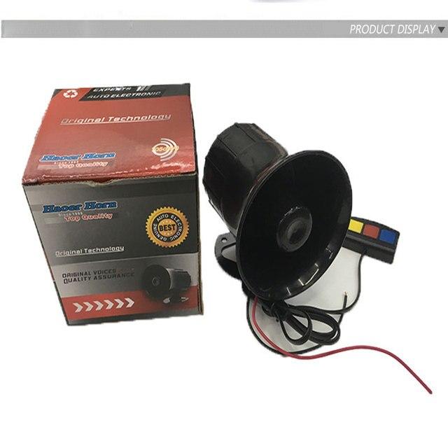 Nueva Universal 3 Tono GZHAOER Loud Siren Cuerno de Alarma de Seguridad Del Coche 12 V DC CALIENTE Ballena camión motocicleta de alarma