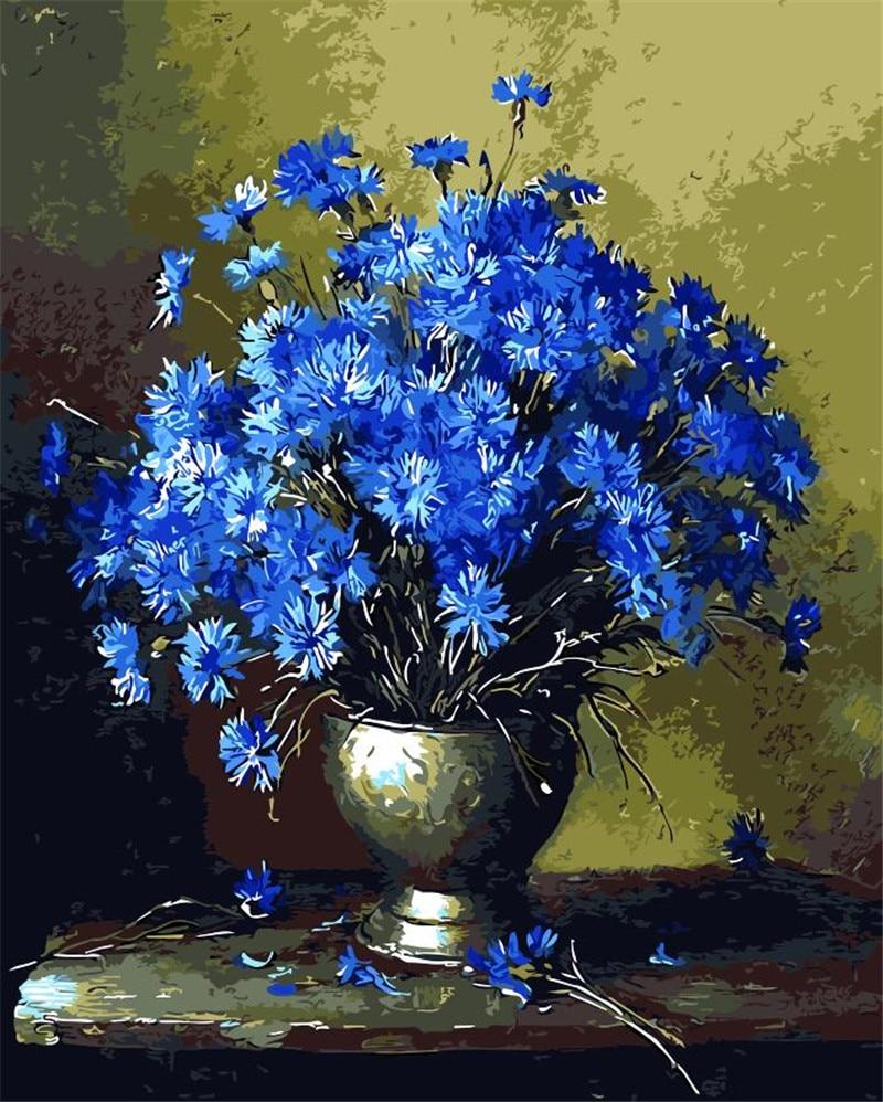 Fashion flower picture DIY digital oil painting flower ...