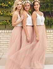 Trendy Blush Bridesmaid Dresses Sexy V Neck A-Line Prom Dresses Cheap Bridesmaid Gown Vestido De Festa custom Made