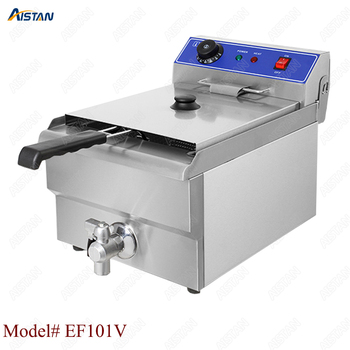 EF101V stainless steel electric deep fryer fried chicken fried potato chips for kitchen appliance 1