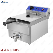 EF101V stainless steel electric deep fryer fried chicken fried potato chips for kitchen appliance цена и фото