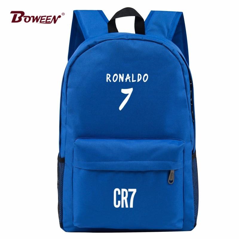 Teen Men Backpack School Bags Boys Teenagers Back Pack Ronaldo Bookbags Fashion Ronaldo Book Bags for Children SchoolBag цена