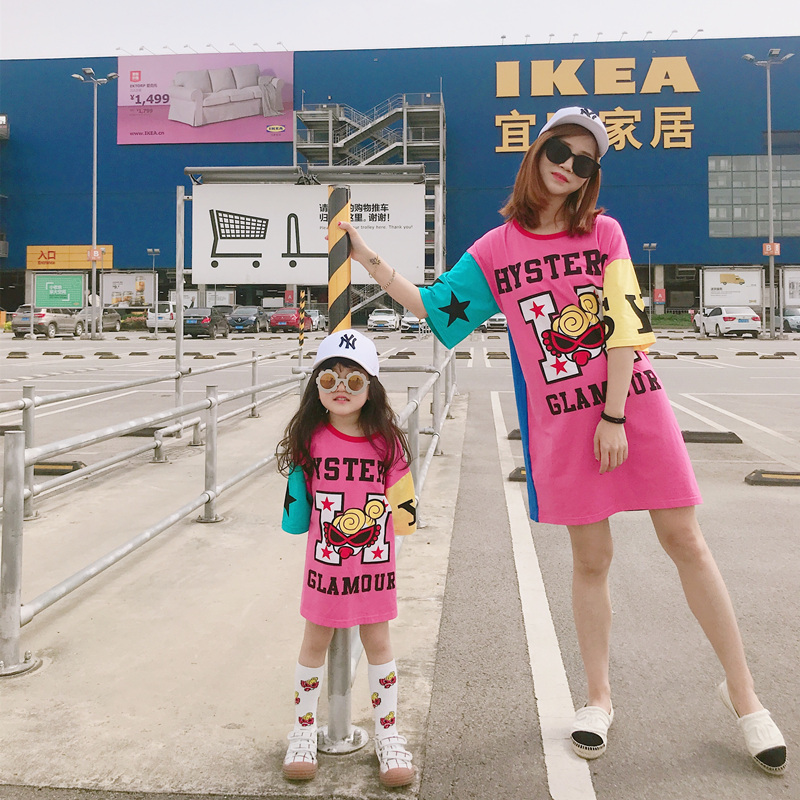 Mum Mama Mother Daughter Dresses Street Style Mother And Newborn Baby Clothes For Family Look Clothing Mommy And Me Clothes