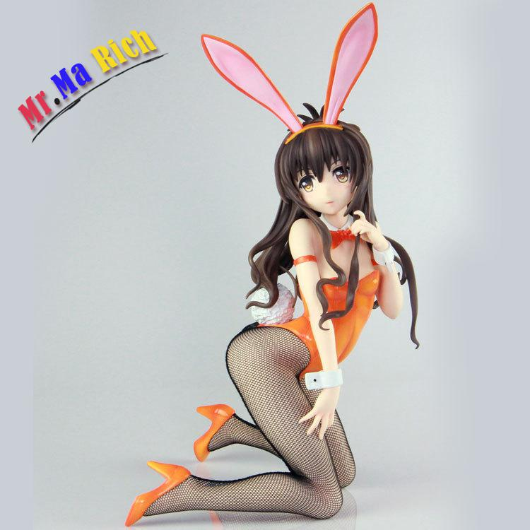 Yuuki Mikan Sexy Adult Action Figures To Love-ru Sexy Pregnant Stockings Bunny Girl Figures Collection Model Toys 23cm to love darkness bunny adult pretty girl model anime girl model beauty model tableware animation hand model toys l