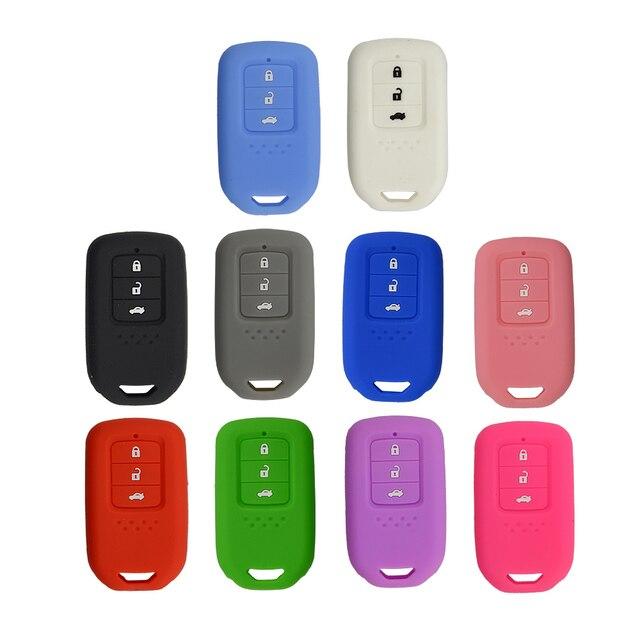 Yeni Stil silikon araba anahtarı kapağı Durum Için Honda Accord 9 Crider CRV HRV 3 Düğmeler Akıllı Araba Anahtarı koruyucu kabuk Aksesuarları