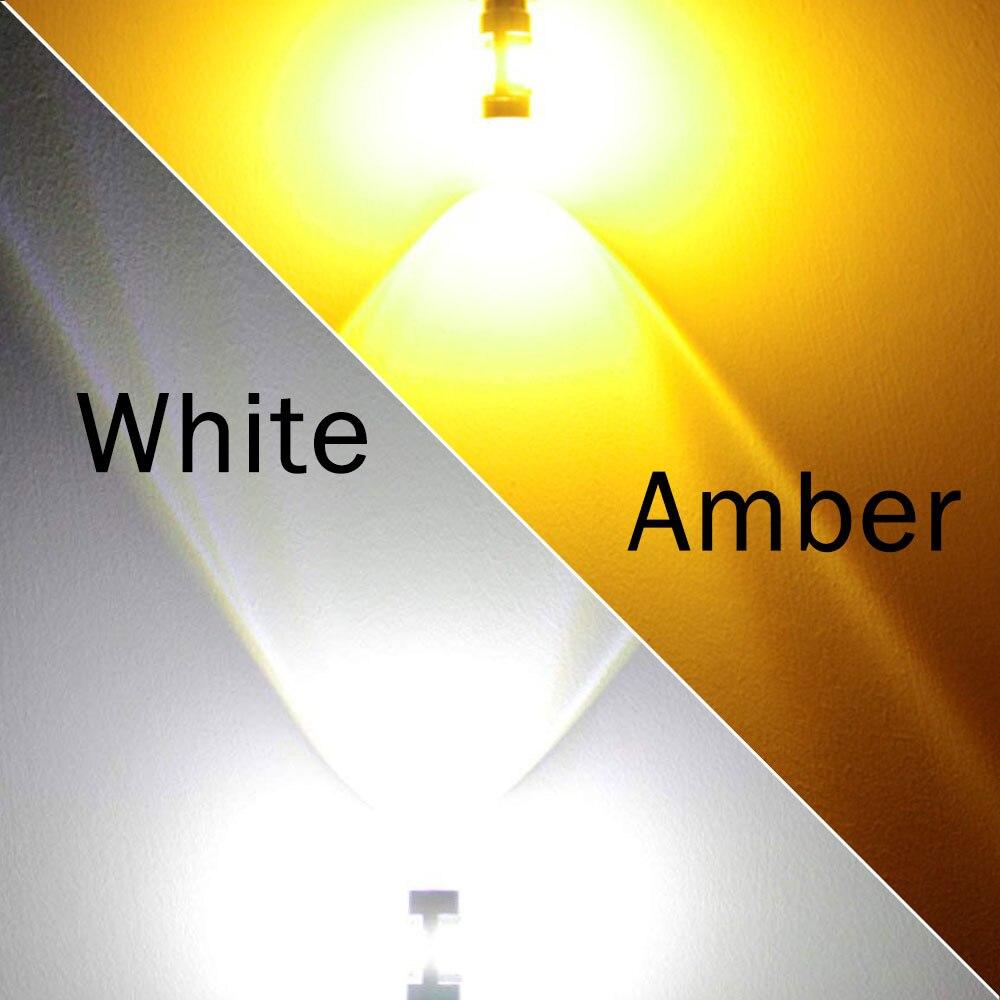 VANSSI 2pcs T20 7440 W21W 7441 7443 7444 W21 5W LED Bulbs for LADA Dimension Lights VANSSI 2pcs T20 7440 W21W 7441 7443 7444 W21/5W LED Bulbs for LADA Dimension Lights Bulbs Super Bright White Amber DC12-24V
