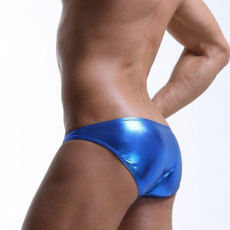 Men's Underwear Men's Briefs Patent Leather Stage Performance Nightclub Sexy Underwear Sexy Lingerie Ice Silk Erotic Panties