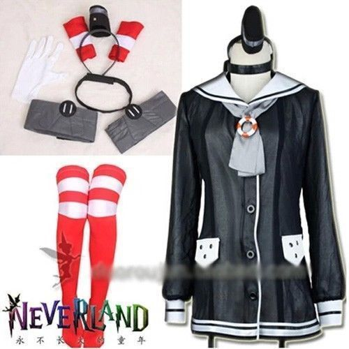 New Kantai Collection Amatsukaze Uniforms Cosplay Costume Free Shipping