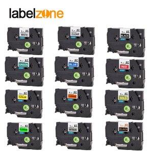 Multicolor 9mm Tze221 Compatible for Brother p-touch label printers Tze tape tze-221 Tz221 Tze 221 Tz-221 label ribbon cassette(China)