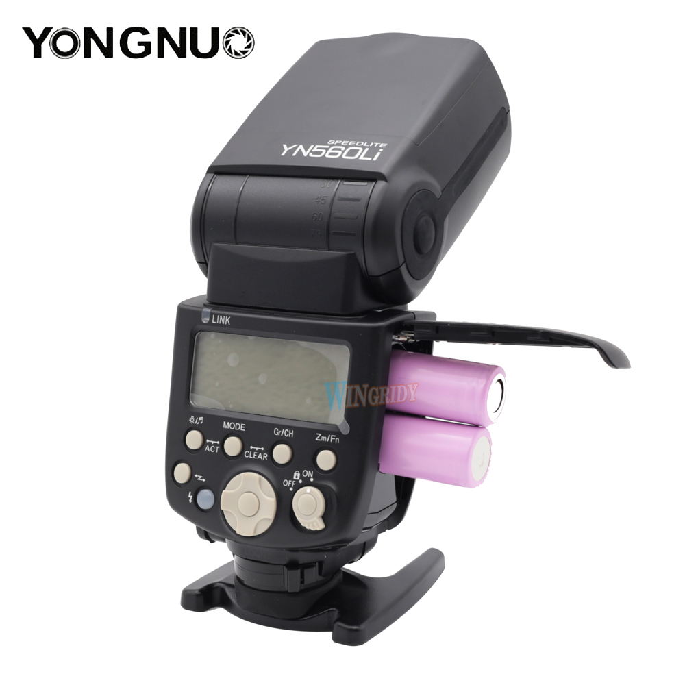 Yongnuo YN560Li 2,4 г радио мигает расстояние до 100 м универсальный топ Горячий башмак вспышка для Canon Nikon Olympus литиевая flash