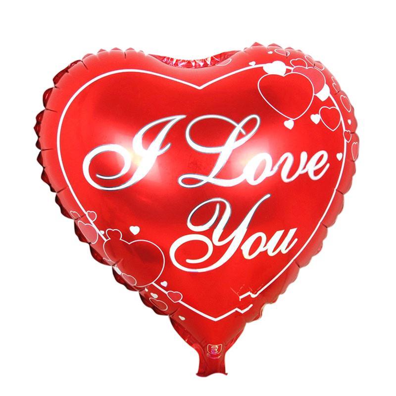 18 Pulgadas Mylar Globo Romántico Del Corazón Impreso TE Amo Para Valentin'S Día