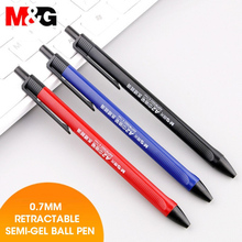 M&G 40pcs/lot Super Smooth Oil Ball Point Pen 0.7mm Fine Pens Ballpoint Pen Black Blue Red pen for school office supplies cute недорого