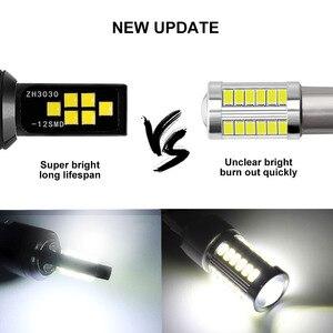 Image 4 - 2PCS H3 H1 Auto Nebel Led lampen 3030 12 LED Canbus Lampe DRL Auto Fahren Laufen Lampe Auto leds Lampe Weiß 12V