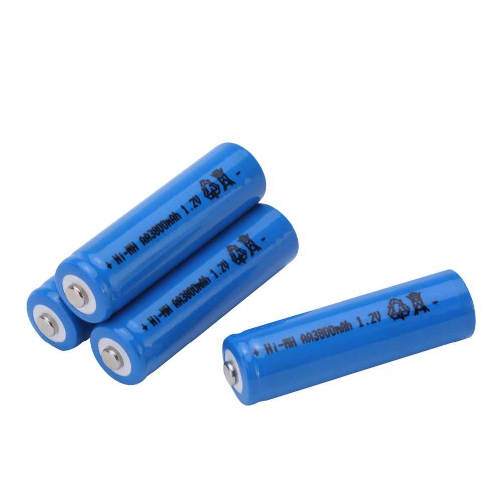 GTF AA 1.2V 3800mAh NI-MH Rechargeable Battery For Toys controller Torch Alarm clock Camera Microphone Batteria Cells Color