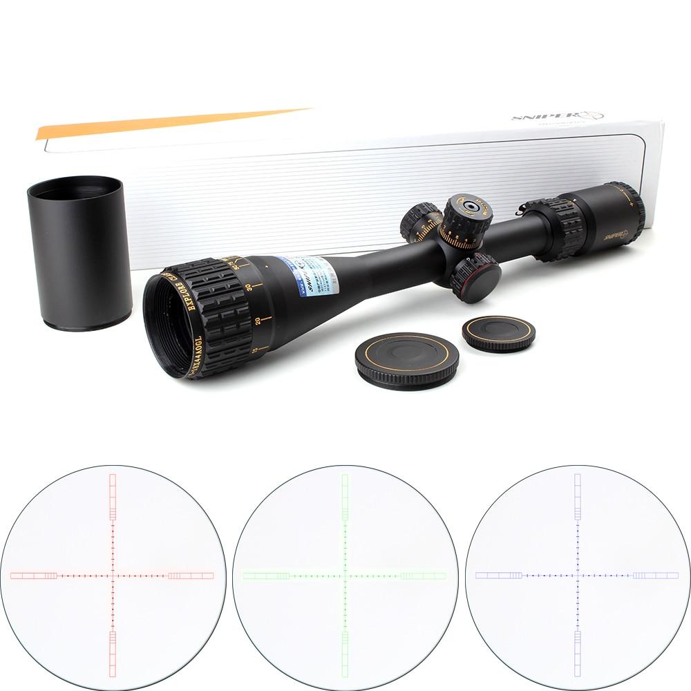 Tactical SNIPER NT 4.5-18X44 AOGL Jakt Riflescopes Optisk Sight Full-Size Glas Etsad Reticle RGB Llluminate Rifle Scope