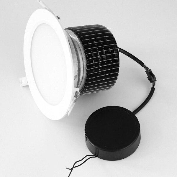 Diamètre 200mm trou de coupe 170mm 50 W 60 W 80 W haute qualité puce LED Downlight givré 120 degrés adapté à l'éclairage général de l'espace élevé
