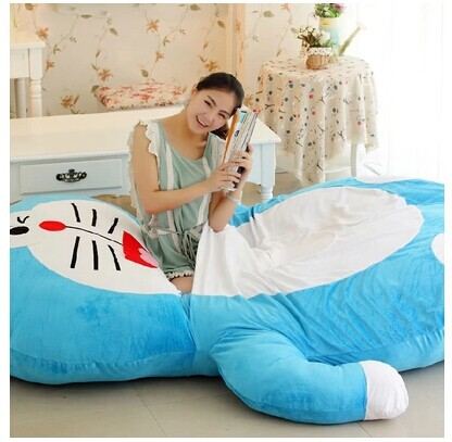 stuffed animal Doraemon cat 220x160cm tatami plush toy soft sofa floor  washable bed mattress cushion surprised gift w3220 stuffed lovely blue cat children sofa toy cartoon plutus cat tatami sofa toy gift about 50x45cm