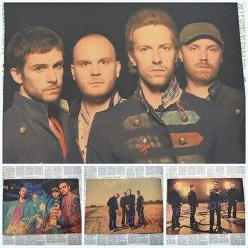Paisaje clásico Coldplay Viva La Vida banda de música Rock artes película clásica póster vintage Retro Decoración del hogar regalo de Adhesivo de pared/1039