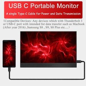 18,4 4K портативный монитор, 17,3 дюйма 3840x2160 ультра тонкий IPS ЖК-дисплей с HDMI Type C для компьютера ноутбука PS4 игровой дисплей