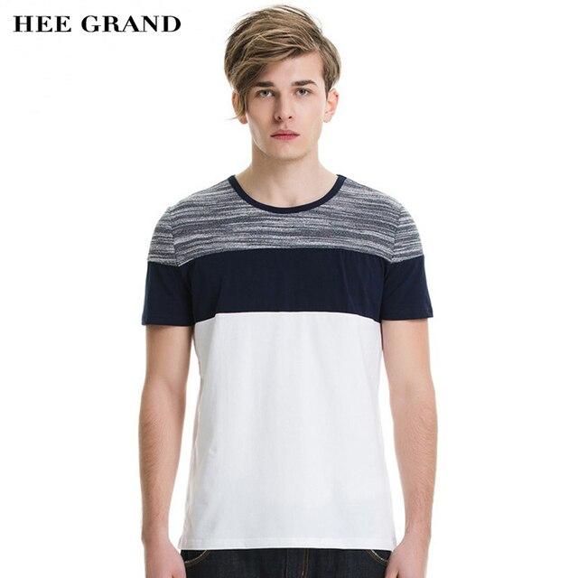 HEE GRAND мужская Повседневная Футболки 2017 Новое Прибытие Мода Лето Топы Дышащий Мягкая Tee MTS1211