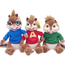 Alvin and the Chipmunks Plush Toy Alvin Squeakquel Theodore Cute Soft Stuffed Animals Baby Kids Toys for Children Gifts cheap Stuffed Plush TV Movie Character PP Cotton Plush Nano Doll 3 years old Mouse Unisex Figure Statue Takzag