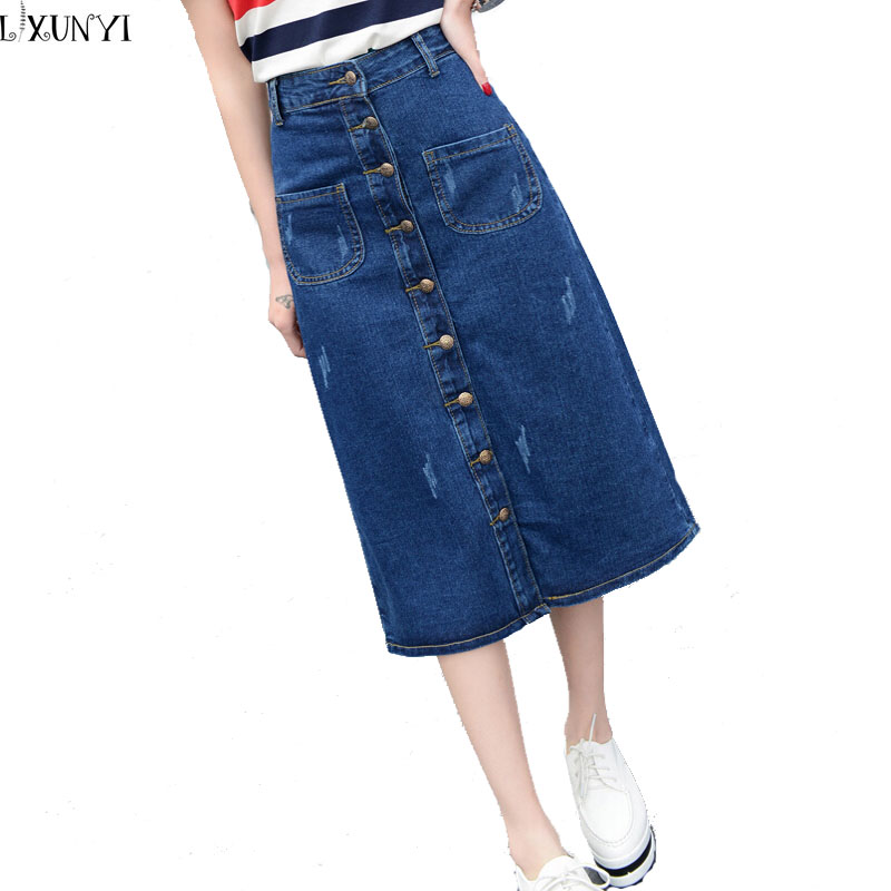 Online Get Cheap Long Denim Skirts Wholesale -Aliexpress.com ...