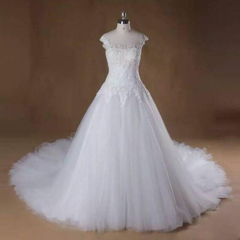Vestido De Noiva Роскошные шелковистая органза Романтический Tialored Винтаж свадебное платье