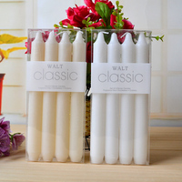 8Pcs/2box Candle white/Ivory Stick Candles Safe Flames Tapered Candles Party Festivals Supplies wedding Home Decorations
