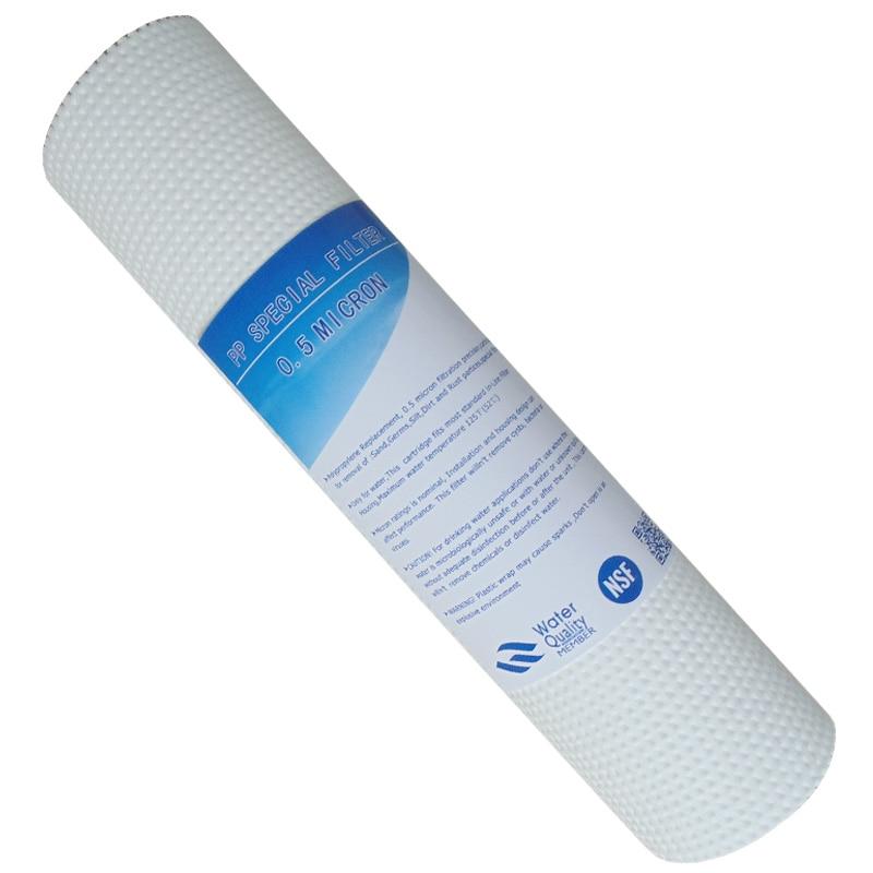 10 Inch PP Cotton Acupuncture 0.5 Micron Sediment Filter Water Purifier Common Front Filter Cartridge Aquarium цена и фото