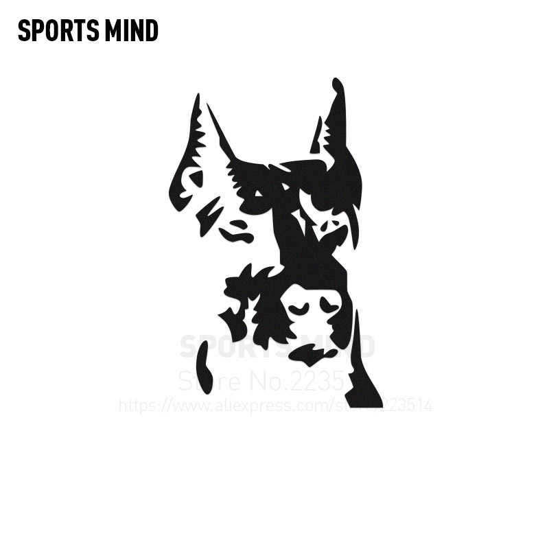 3 Pieces dogs head Automobiles Car Body Sticker Waterproof Reflective vinyl Sticker Decal Car styling For All Car accessories