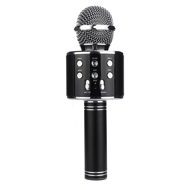 Hot Sale Home KTV Karaoke Microphone Player Bluetooth Speaker 3.5mm Jack Microphone for Computer PC Phone #ET