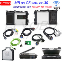 Newest 03/2019V Software MB Star C5 SD CONNECT 5 with CF 30 4G Diagnosis laptop CF30 Auto Diagnostic Scanner ready to use