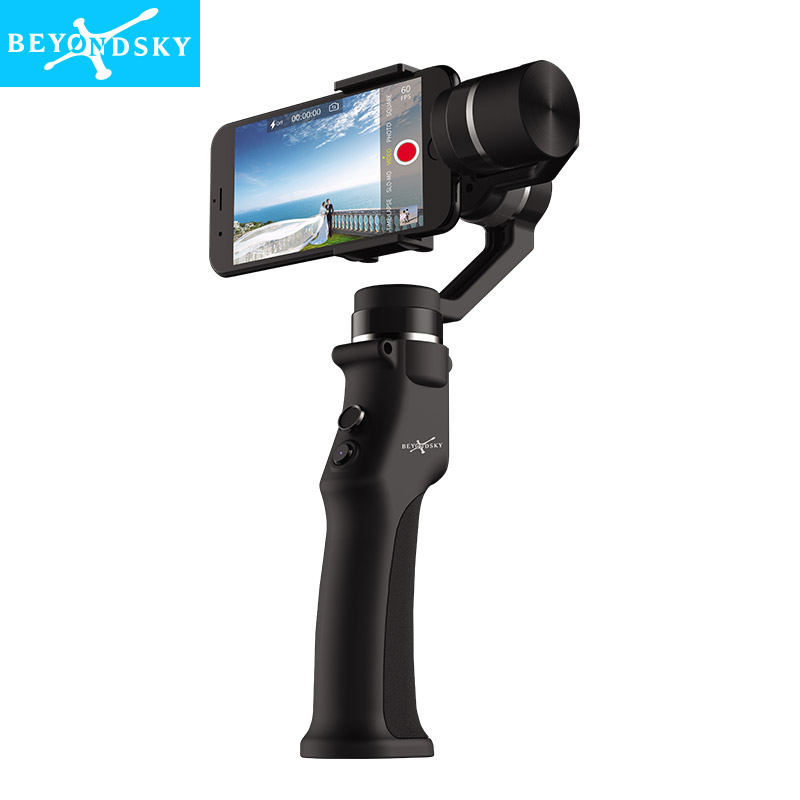 Beyondsky Eyemind Smartphone Handheld Gimbal 3-Axis Stabilizer for Gopro Action Camera Bluetooth APP Selfie Stick estabilizador 12mp 980 mah handheld steadygrip 4k camera 3 axis gimbal x3 for osmo kit