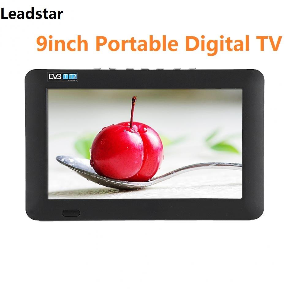 LEADSTAR 9inch Portable TV DVB-T DVB-T2  HD 800×480 Resolution Digital Analog Television