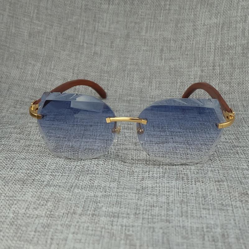Glas Holz Lady Elegante Gläser Gold Party Stilvolle Sonnenbrille Carter Designer Männer Sun Dekoration Freizeit Neue Brillen Gradient Blue Großhandel Luxus wXfXrxCBq