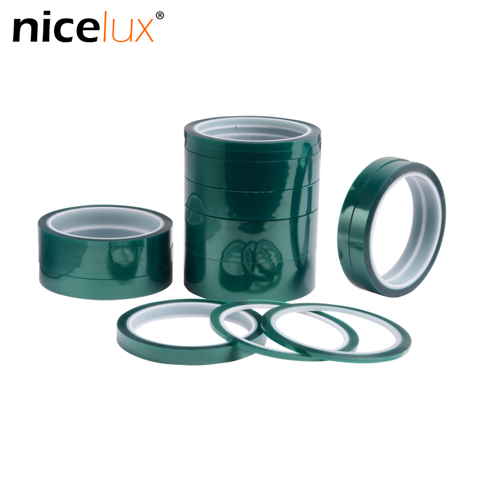 Green Pet Tape Heat Resistant PET High Temperature Shielding Tape For PCB Solder Plating Insulation Protection 10mm 20mm 30mm