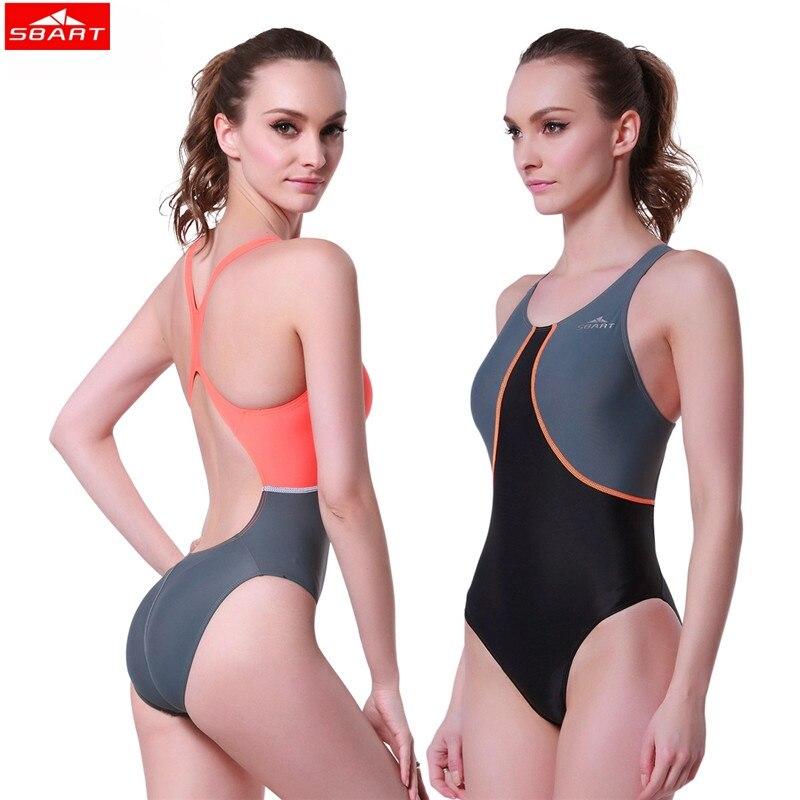 SBART Women one piece swimwear water sports spring backless monokini bathing swim suit Sexy Quick dry Women Elastic Swimsuit sbart upf50 806 micai