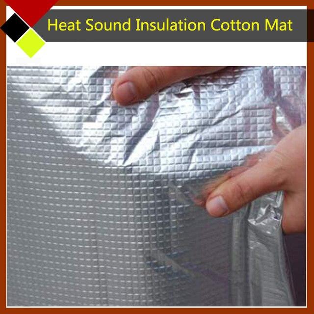 """Car Cover Aluminum Foil Noise Control Heat Sound Insulation Absorbing Deadener Cotton Material 30"""" x40"""" 76cm x100cm"""