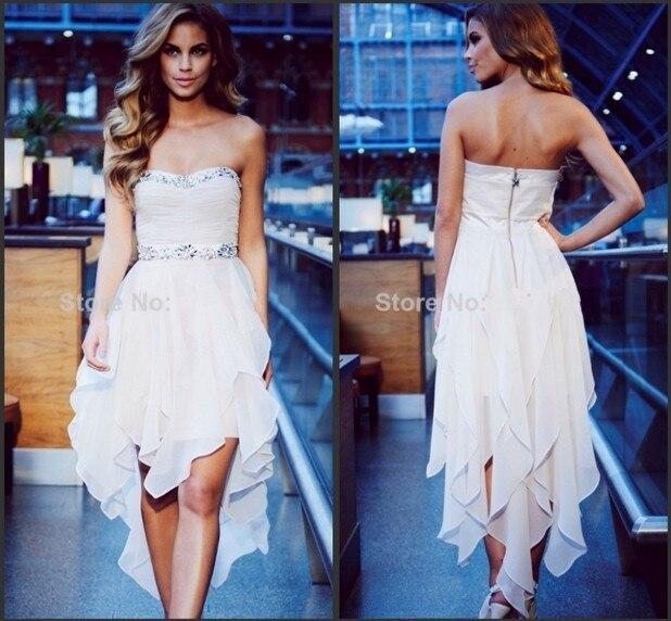 new2014 heißer verkauf mode geliebte perlen sexy kleider vorne kurz ...