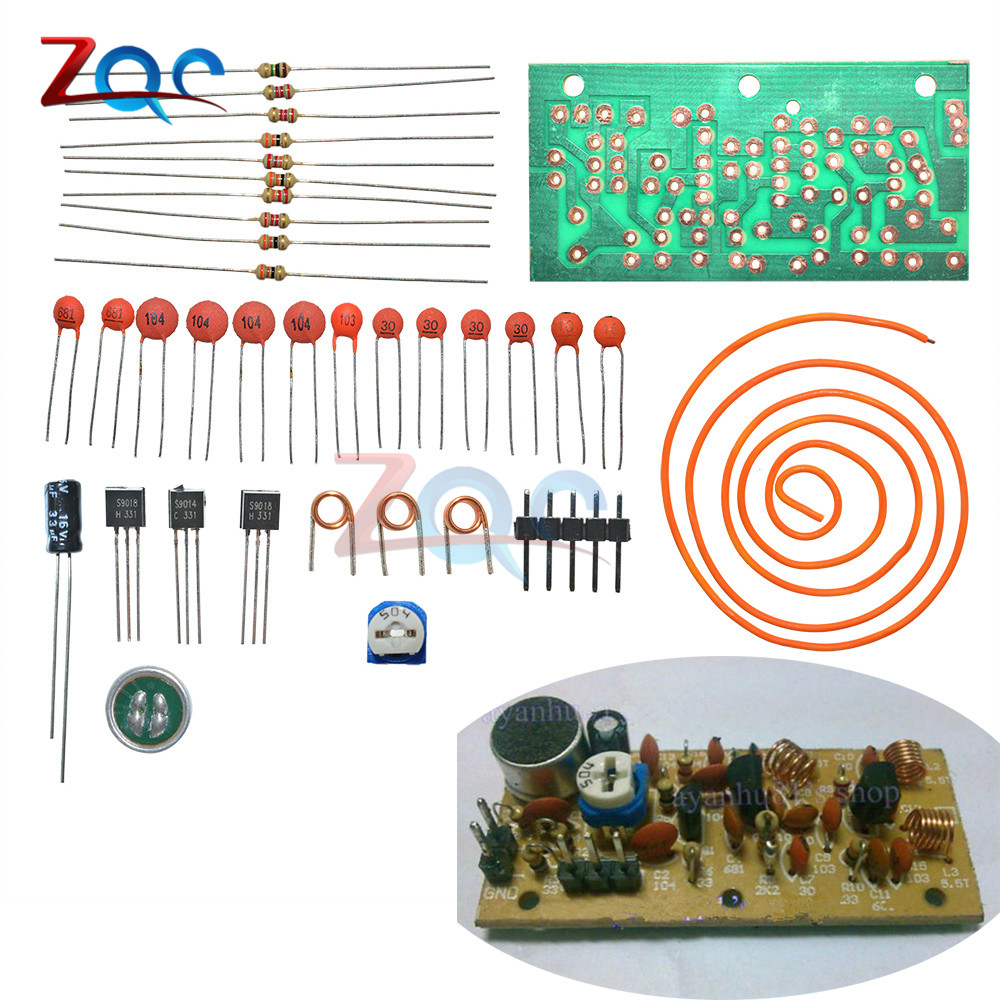 Fm Radio High Frequency Wireless Microphone Diy Kits Mic Board Sound 9v Transmitter Circuit Wiring Diagrams 80mhz 103mhz Electrical Siganl