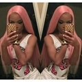Synthetic Lace Front Pastel Pink Straight Wig High Quality Heat Resistance Synthetic Long Straight Pink Lace Front Wigs