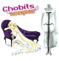 Chobits Chii White Lolita Dress Anime Cosplay Costume