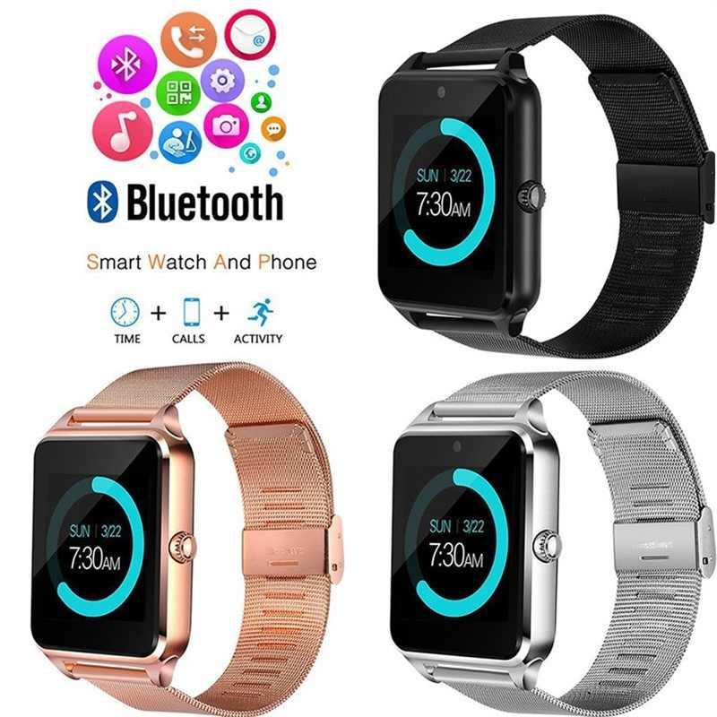 Смарт-часы Z60 для мужчин и женщин, Bluetooth, стальной ремешок, наручные часы, поддержка SIM/TF карт, часы для Apple, Android, телефон, мужской Reloj