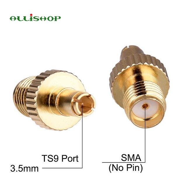 ALLiSHOP 2 sztuk SMA męski na złącze żeńskie SMA RF koncentryczny Adapter do anteny transmisji radia bezprzewodowy dostęp do internetu CCTV cyfrowy