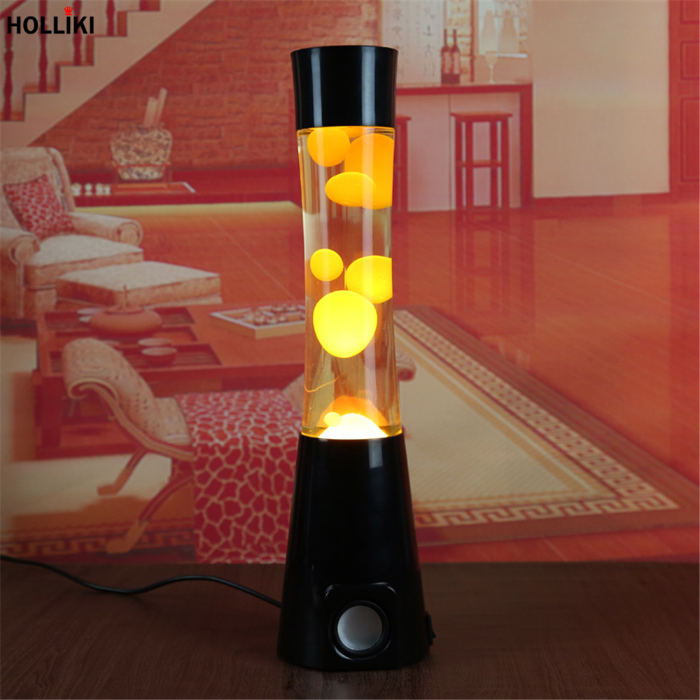 LED 220v Big Lava Lamp with Music Speaker Function Wax Volcanic Style Night Light Lamps Christmas Decor for Home Desk Table Lamp 7colors led night light starry sky remote control ocean wave projector with mini music novelty baby lamp led night lamp for kids