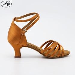 Bd dance shoes 211 dark tan black satin ladies latin dance shoes women sandal professional dancing.jpg 250x250