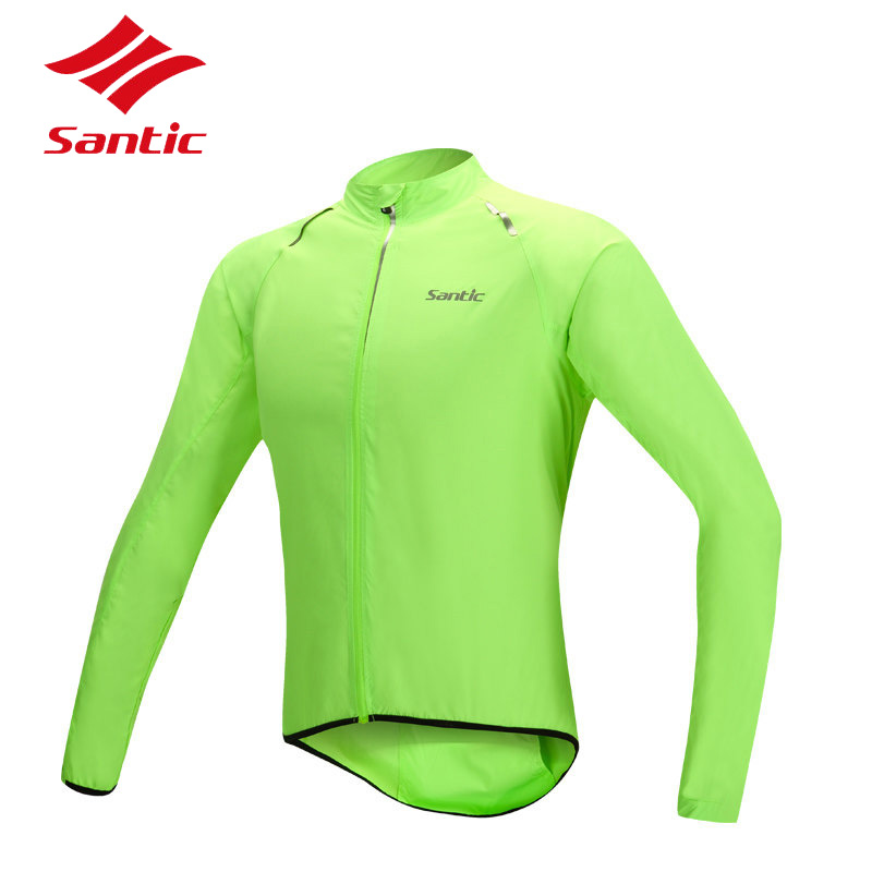 Santic Cycling Jacket Men Rainproof Road Bike Jersey Wind Coat Road Bicycle Jacket Raincoat Cycling Clothing