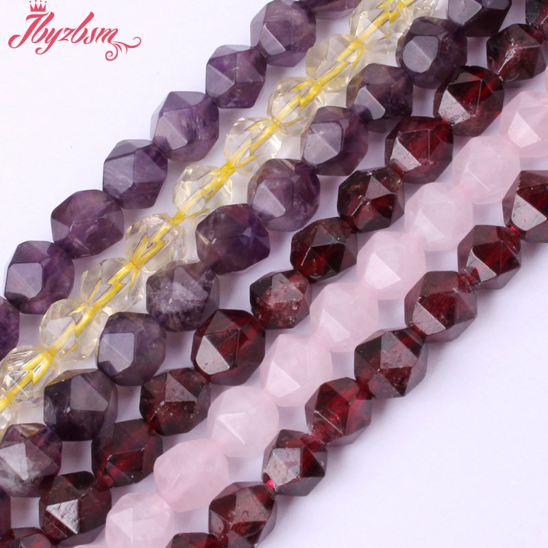 """6mm Faceted Cube Quartz Garnet Beads Natural Stone Beads For DIY Necklace Bracelets Earring Jewelry Making 15"""" Free Shipping"""