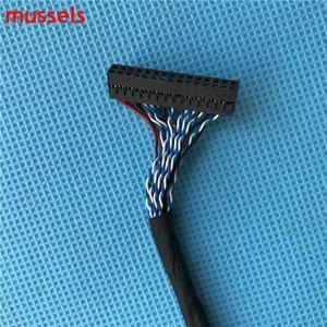Image 3 - Для ЖК контроллера панель двойной 8 бит интерфейсный провод FIX D8 30pin LVDS кабель Бесплатная доставка 3 шт./лот