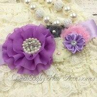 Retail! ivory Petti Lace Romper Set Matching Baby Headband Flower Sash Chunky Neacklace Birthday Outfits